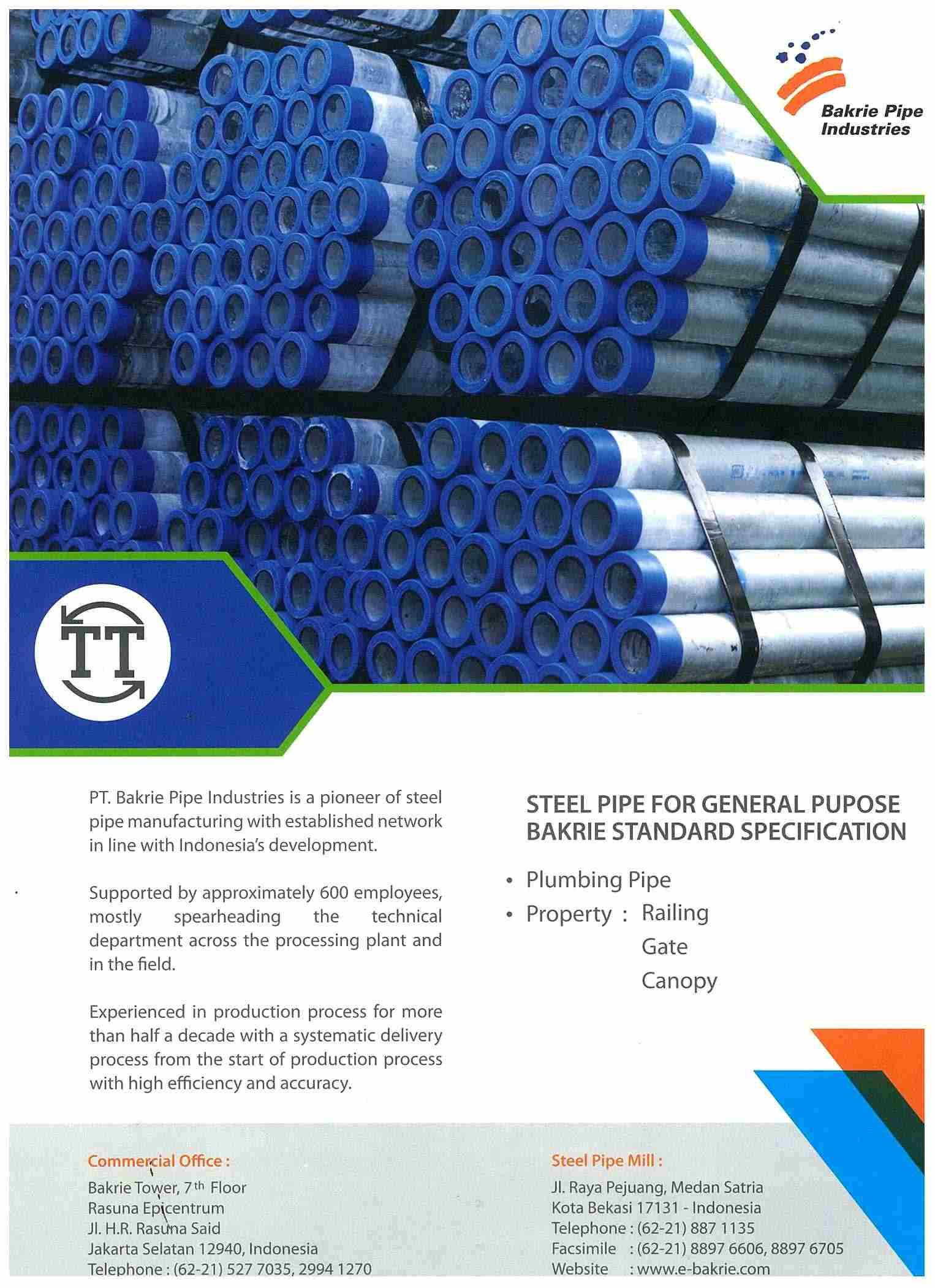 Brochures Bakrie Pipe Industries